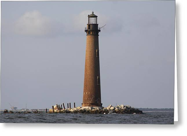 Sand Island Lighthouse - Once 40 Acres Greeting Card by Travis Truelove