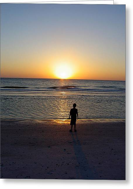 Greeting Card featuring the photograph Sand Key Sunset by David Nicholls