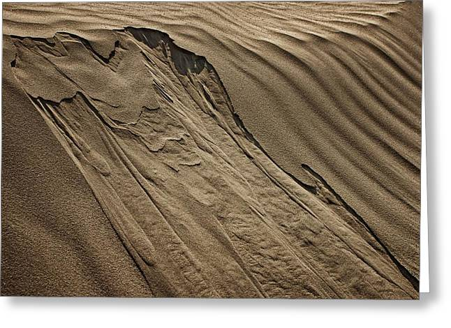 Sand Pattern Abstract - 1 Greeting Card