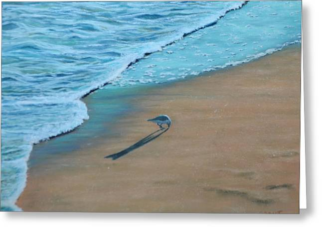 Sand Piper Greeting Card by Joanne Grant