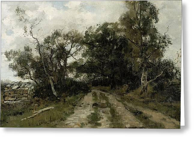 Sand Road, Théophile De Bock Greeting Card