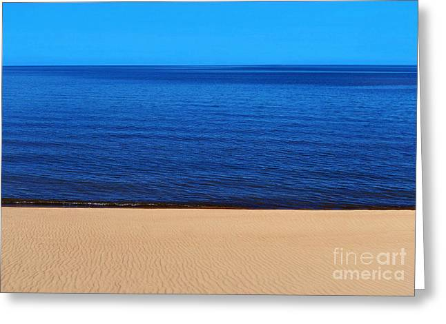 Sand Sea And Sky Greeting Card