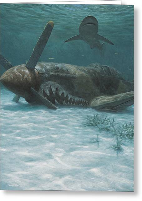 Sand Shark Greeting Card