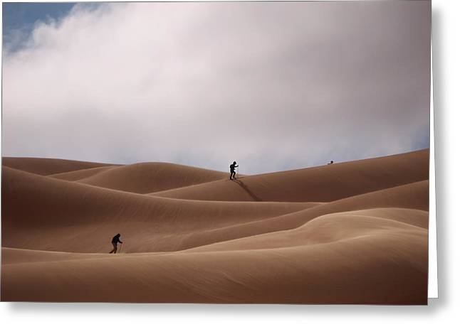 Sand Skiing Greeting Card