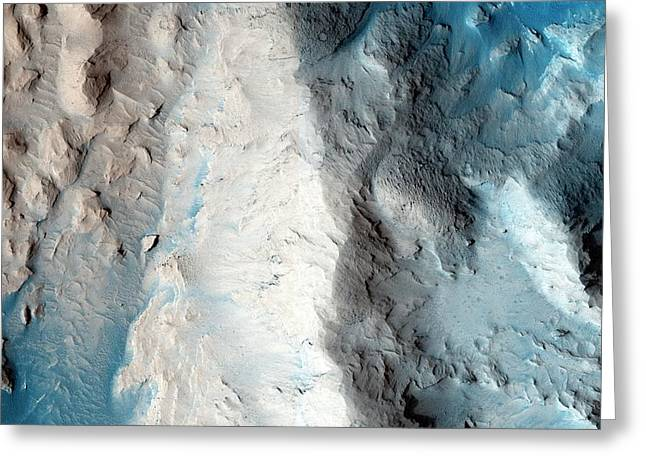 Sand Slopes On Mars Greeting Card