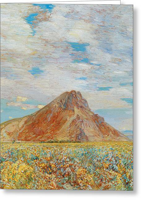 Sand Springs Butte Greeting Card by Childe Hassam