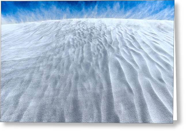 Sand Storm On The Horizon Greeting Card by Julian Cook