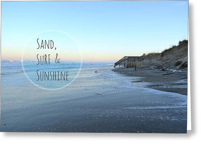 Sand Surf Sunshine Greeting Card