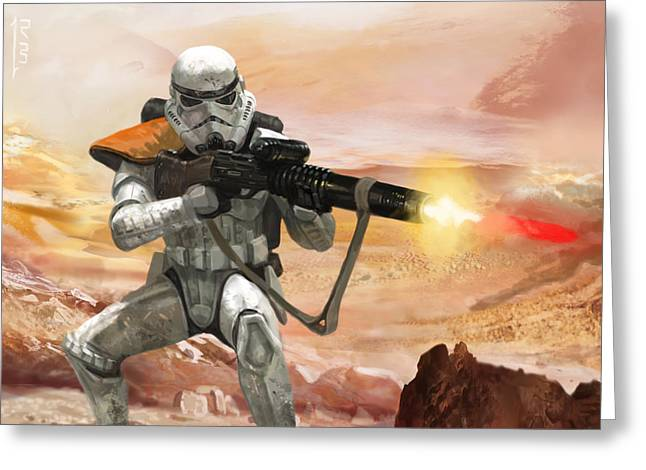 Sand Trooper - Star Wars The Card Game Greeting Card