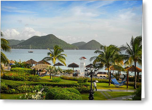 Greeting Card featuring the photograph Sandals St. Lucia by Joe Winkler