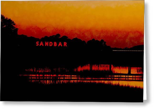 Sandbar Beach Bar Greeting Card