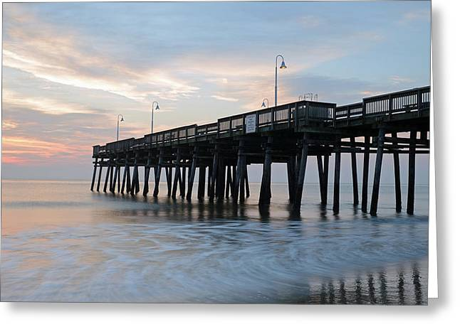 Sandbridge Pier Greeting Card
