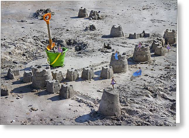 Sandcastle Squatters Greeting Card by Betsy Knapp
