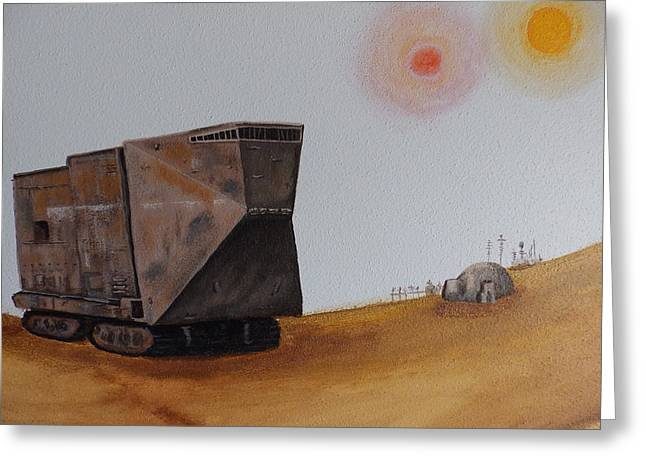 Sandcrawler Greeting Card