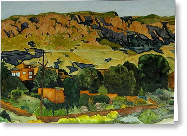 Greeting Card featuring the painting Sandia Heights by Jeffrey S Perrine
