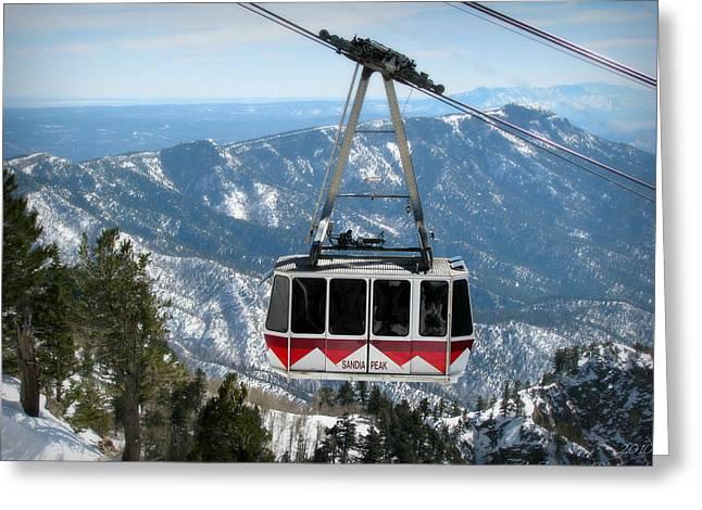 Sandia Peak Tramway Winter Greeting Card