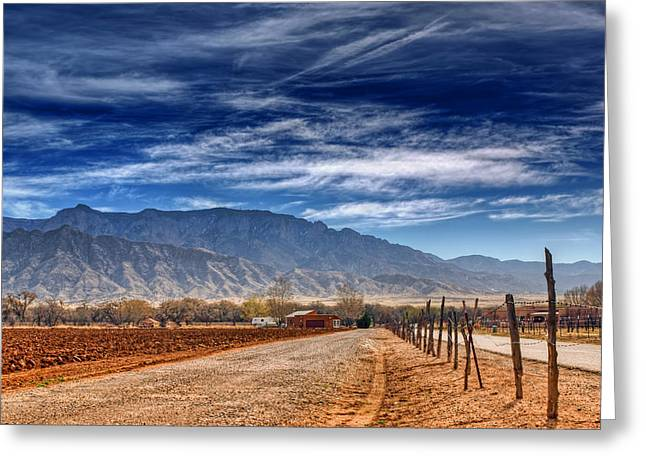 Sandias In My Backyard Greeting Card by Nikolyn McDonald