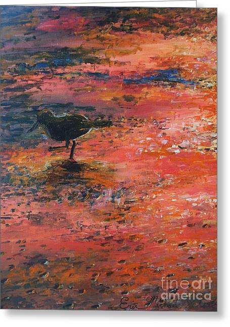 Sandpiper Cape May Greeting Card by Eric  Schiabor