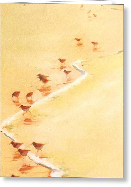 Sandpiper Promenage Greeting Card