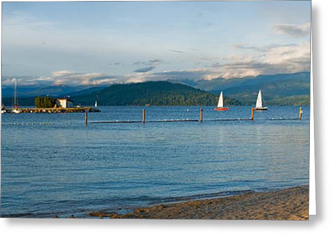 Sandpoint City Beach Greeting Card by Marie-Dominique Verdier