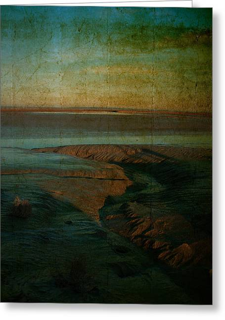 Sands At Mount St Michael Greeting Card by Karo Evans