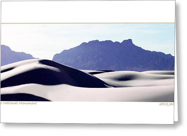 Purple Sands Mountains Majestic Greeting Card