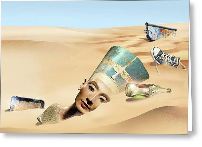 Sands Of Time Greeting Card by Smetek