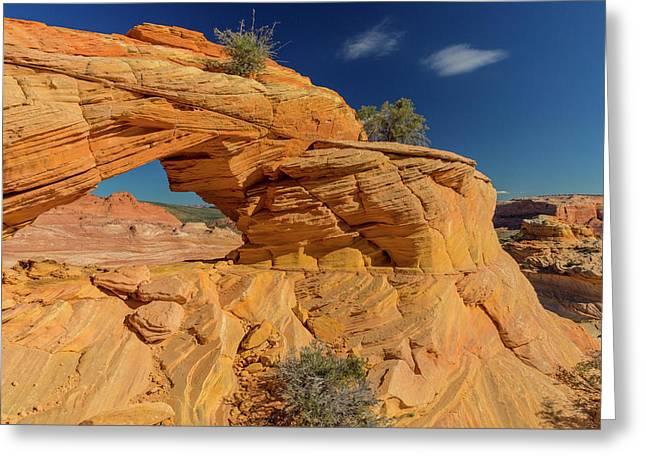 Sandstone Arch In The Vermillion Cliffs Greeting Card