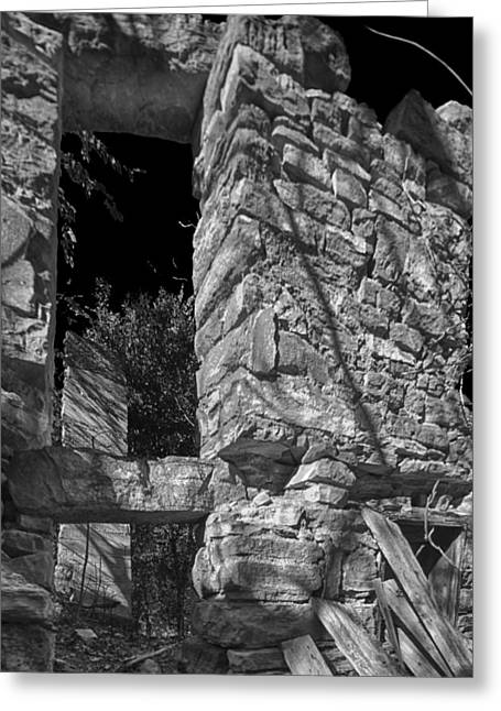 Sandstone Arch Jerome Black And White Greeting Card by Scott Campbell