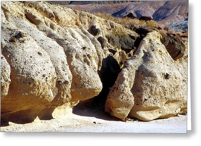 Sandstone Erosions Dry River Bed Greeting Card