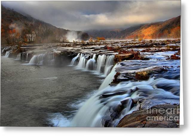 Sandstone Falls In Sandstone West Virginia Greeting Card by Adam Jewell