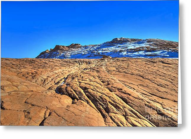 Sandstone N Snow Greeting Card