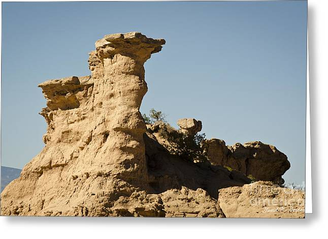 Sandstone Rock Formation  Greeting Card