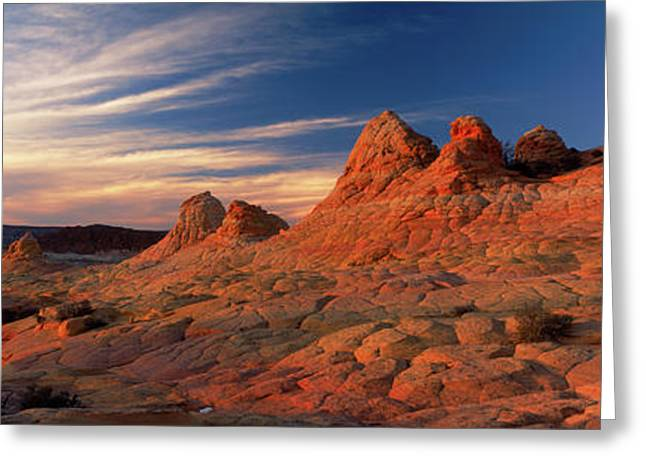 Sandstone Rock Formations, Paria Greeting Card