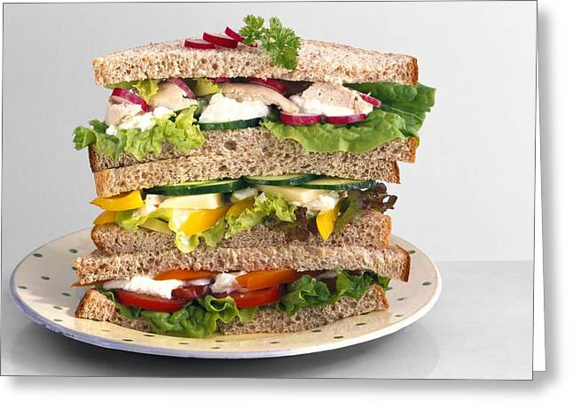 Sandwiches Greeting Card by Science Photo Library