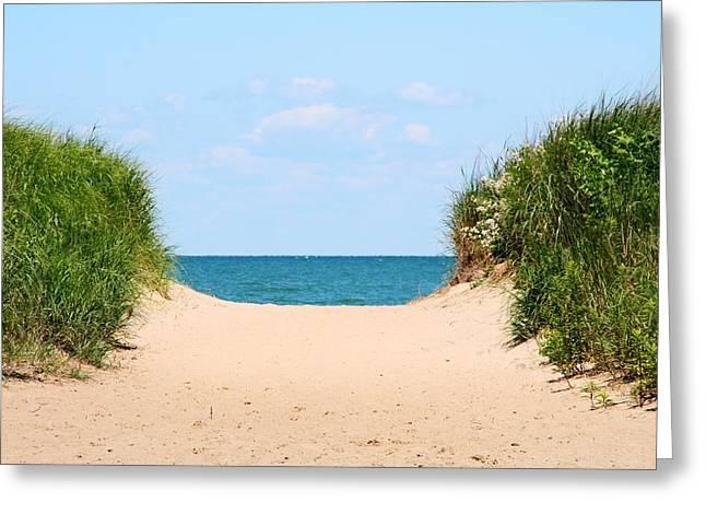 Sandy Beach Greeting Card by Heather Allen