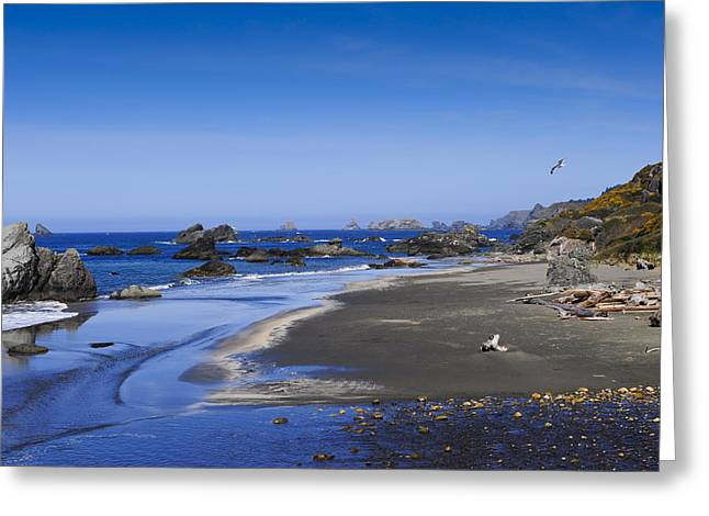Sandy Beach On The North Coast Greeting Card
