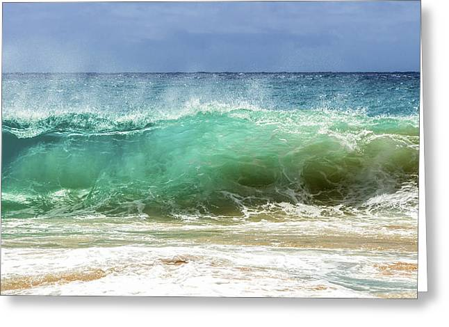 Sandy Beach Shorebreak 1 Greeting Card