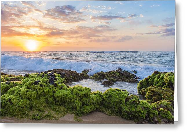 Sandy Beach Sunrise 2 Greeting Card