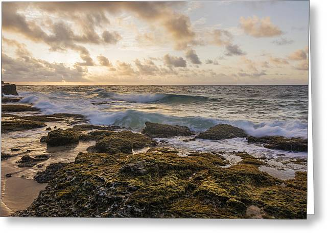Sandy Beach Sunrise 2 - Oahu Hawaii Greeting Card