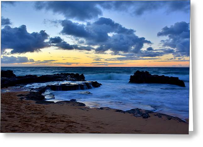 Sandy Beach Sunrise 6 - Oahu Hawaii Greeting Card