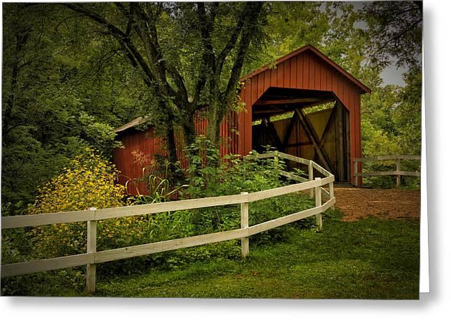 Sandy Creek Bridge Near Hillsboro Mo Dsc06888 Greeting Card