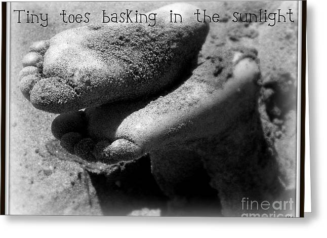 Greeting Card featuring the photograph Sandy Feet by Heidi Manly