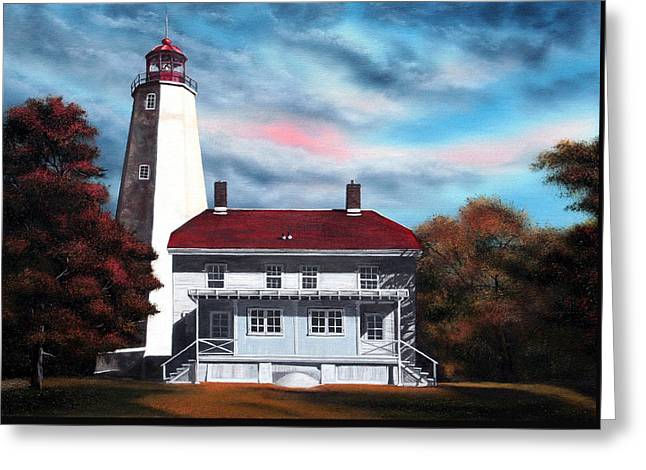 Sandy Hook Lighthouse Greeting Card