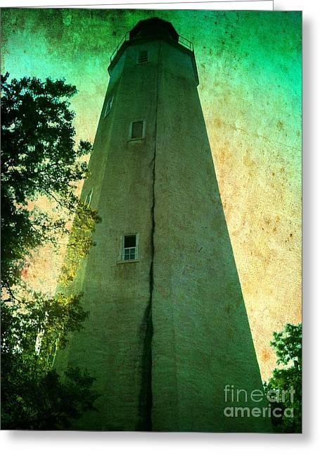 Greeting Card featuring the photograph Sandy Hook Lighthouse by Denise Tomasura