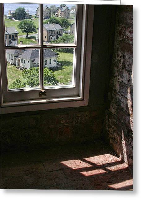 Greeting Card featuring the photograph Sandy Hook View From The Lighthouse by Gary Slawsky