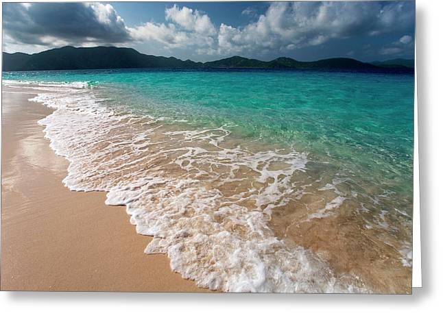 Sandy Island, British Virgin Islands Greeting Card by Susan Degginger