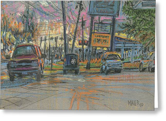 Sandy Plains Crossing Greeting Card by Donald Maier