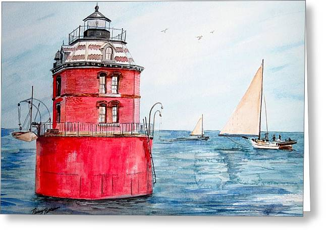 Sandy Point Lighthouse 2 Greeting Card