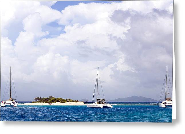 Sandy Spit Greeting Card by Michael Glenn